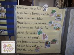 fire safety writing paper a kinders garten vintage homeschool smokey the bear forest fire i wrote sentences on sentence strips and added the matching picture as i read each one i asked the children