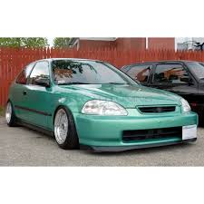 honda civic pu design sir style front bumper lip polyurethane honda civic