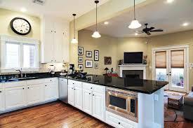 peninsula kitchen ideas lighting kitchen peninsula with black kitchen countertops