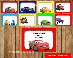 disney cars tag etsy