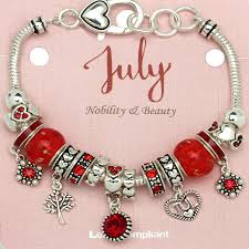 bracelet beads pandora style images Ruby july birthstone charm bracelet murano beads pandora style jpg