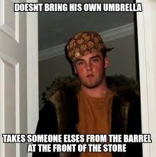 the worst scumbag to meet on a rainy monday morning meme guy