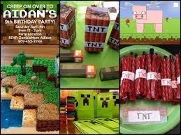 minecraft birthday party ideas interesting design ideas minecraft birthday party easy