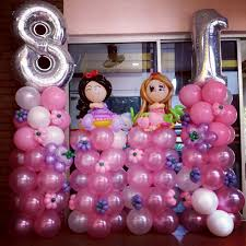 Balloon Decoration At Home First Birthday Decorations At Home Decorating Ideas 1st Baby Pics