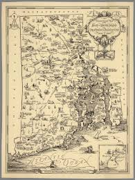 Rhode Island Map Tercentenary Map Of The State Of Rhode Island And Providence