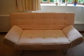 Cream BO CONCEPT  Seater Sofa Bed With Fold Up Arms In - Fold up sofa beds