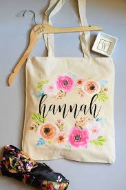 bridesmaid tote bags personalized tote bag floral bridesmaid
