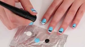 how to do a bow nail art look with the plie wand by julep