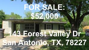 Home Decor San Antonio Cute Hud Homes Hud King Tours 143 Forest Valley Youtube
