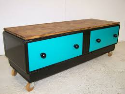 Tv Stand Cabinet Design Vintage Retro Upcycled Tv Stand Cabinet On Our Castor Wheels For