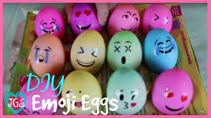 Easy Easter Decorations To Make At Home by Emoji Easter Eggs Diy How To Make Easy Emoji Eggs Craft