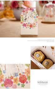 bride groom wedding favor boxes 50pcs bride and groom wedding favor box flower gift box wedding