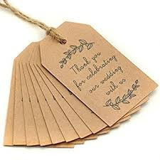 wedding gift tags 100pcs kraft paper gift tags wedding favor tags
