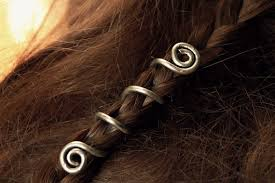2 custom viking hair beads spiral hair coils beard jewelry