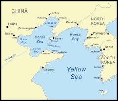 sea of map yellow sea