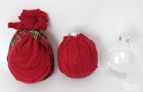 repurpose sweaters into oversized ornaments design dazzle