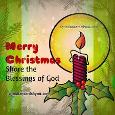 merry christmas sharing the blessings of god free christian card