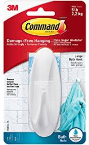 command bathroom hook with water resistant strips 1 hook 2