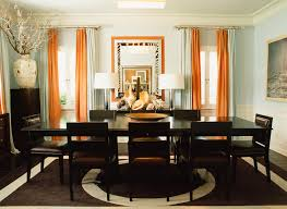 Dining Room Drapes Orange Curtains Contemporary Dining Room At Home In Arkansas