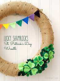 s day wreaths lucky shamrocks st s day wreath wreaths saints and