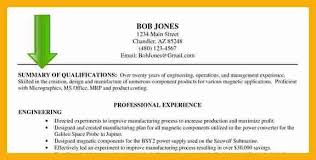 free summary of qualifications sample resume base someone gq