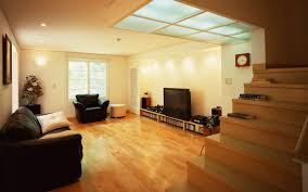 best white off wall interior lighting with wooden floor and wooden