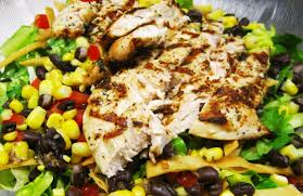 the domestic curator southwestern grilled chicken salad with