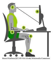 ergonomie bureau ordinateur espace de travail ergonomique chez soi