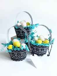 egg baskets printable mini patterned egg baskets