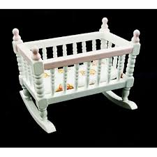 victorian nursery crib cradle dollhouse furniture
