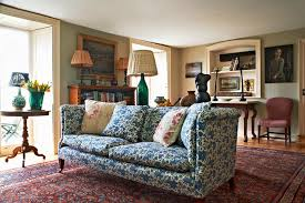 New Upholstery For Sofa Sofa Covered In Sanderson U0027s Blue Floral Picotage Fabric