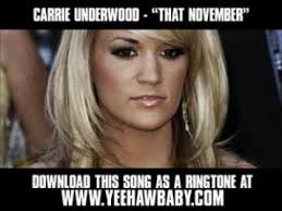 Carrie Meme - carrie underwood that november demo song new video