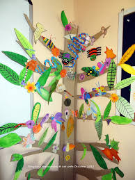 art with children tree wall display for classroom nature