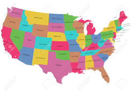 Kentucky Map Usa by Colorful Usa Map With States Royalty Free Cliparts Vectors And