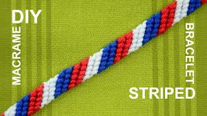 friendship bracelet tutorials images How to make a candy stripe diagonal striped friendship bracelet jpg
