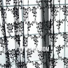 Black Floral Curtains Black And White Floral Curtains Bold Pink Watercolor Roses Floral