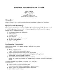 Accounting Job Resume Sample by Entry Level Accounting Job Resume Free Resume Example And