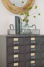 Vintage Metal File Cabinet Restored Vintage Metal Hardware Cabinet Little House Of Four
