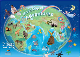 World Map Posters by English Adventure Student U0027s Zone Classroom Posters