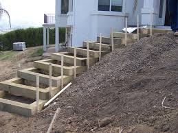 Steps Design by The 2 Minute Gardener Garden Elements Landscape Timber Stairs