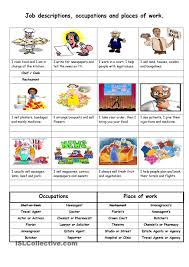 Esl Vocabulary Worksheets Job Descriptions Occupations And Places Of Work Interview
