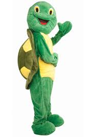 Mascot Costumes Halloween Deluxe Turtle Mascot Costume