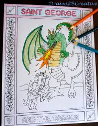 saint george and the dragon drawn2bcreative