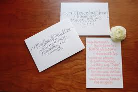 wedding invitations addressing diy wedding envelope addressing tips julep