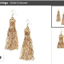 hm earrings 47 h m jewelry h m gold beaded tassel earrings from