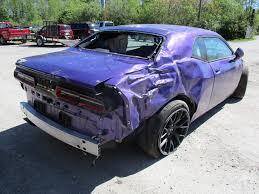 plum dodge challenger for sale wrecked plum dodge challenger hellcat organ donor has just