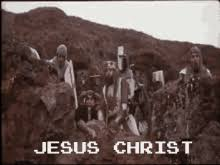 monty python and the holy grail just a flesh wound gif