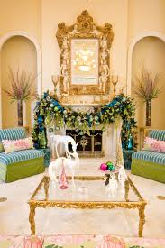 Peacock Living Room Decor Fireplace Christmas Decoration Ideas Of Holiday Interior Decor