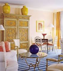 Yellow Fireplace Traditional Living Room With Fireplace And Wooden Armoire