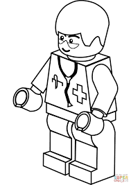 lego doctor coloring page inside coloring page eson me